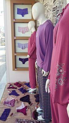 Vamp shopwindow at «Flirty» lingerie boutique at Samos island, Greece! #vampfashion #shopwindow