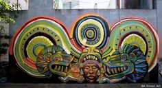Colombian street artist Guache has been in Buenos Aires and painted a stunning mural with MPC at Hospital Pirovano in Coghlan featuring a feathered snake. http://buenosairesstreetart.com/wp-content/uploads/2012/12/IMG_6930.jpg