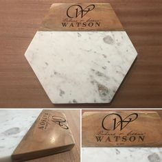 A mix of granite and wood cutting board personalized and unique in every way.