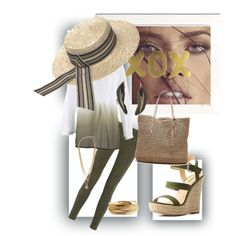 Natural Girl by ronelhe on Polyvore featuring polyvore fashion style AG Adriano Goldschmied Charlotte Russe Banana Republic YooLa Vince Camuto MANGO Tak.Ori