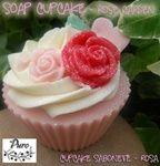 handmade, natural soap, bar soaps, cupcake soaps, soap cupcakes, Dreamy rose fragrance