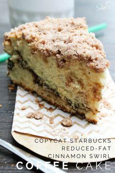 Copycat Starbucks Reduced-Fat Cinnamon Swirl Coffee Cake