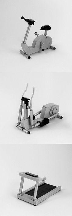 LEGO workout machines by Tim Schwalfenberg