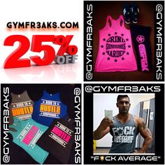 GO TO @GYMFR3AKS FOR THE HOTTEST GYM GEAR FOR THIS SUMMER WITH MANY STYLES TO CHOOSE FROM!!      @gymfr3aks @gymfr3aks @gymfr3aks      WWW.GYMFR3AKS.COM      FREE US PRIORITY SHIP ON PURCHASES OVER $49.99 - DISCOUNTED INTERNATIONAL SHIPPING!        USE CODE NL25 FOR 25%OFF     #abs #awesome  #beast #beastmode #beautiful #goals #fitness  #gymrat #gymgear #fit #fitfam #focused #fitness #gymflow #gym  #dedicated #shredzarmy #gymfreak #muscles #st