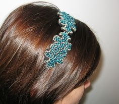 Crissa Toma Head accessory made with felt and glass beads