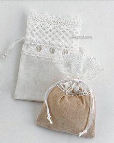 Wedding favors ideas Wedding favors Wedding gifts Greek wedding guests Rustic wedding lace pouch Unique wedding favors ideas Wedding party