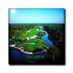 """Aerial Shot of PGA Florida Golf Course - 12 Inch Ceramic Tile by 3dRose. $22.99. Image applied to the top surface. Clean with mild detergent. Dimensions: 12"""" H x 12"""" W x 1/4"""" D. Construction grade. Floor installation not recommended.. High gloss finish. Aerial Shot of PGA Florida Golf Course Tile is great for a backsplash, countertop or as an accent. This commercial quality construction grade tile has a high gloss finish. The image is applied to the top surfac..."""