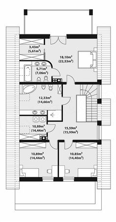 Projekt domu Alwin 171,57 m2 - koszt budowy - EXTRADOM House Cleaning Tips, Cleaning Hacks, 3 Bedroom Plan, Tech House, Mountain Homes, Modern House Plans, Clean House, Floor Plans, House Design