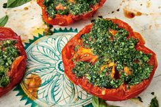 Herbed tomato, garlic, cilantro, basil...