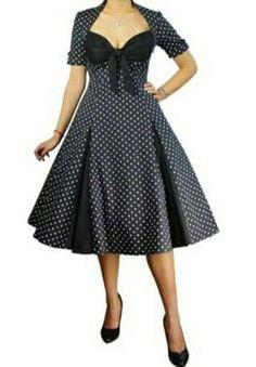 Vestido moda años 50's