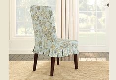 Sure Fit Slipcovers Casablanca Rose Dining Chair Moonstone Slipcover - Dining Chair Cover