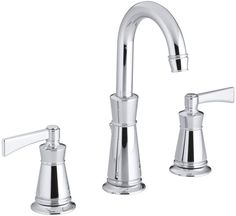 Kohler K-11076-4 Archer Widespread Bathroom Faucet with Ultra-Glide Valve Techno Polished Chrome Faucet Lavatory Double Handle