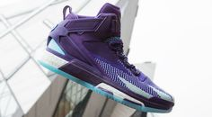 Adidas D Rose 6 Boost Primeknit 'All Star Aurora Borealis' Sneakers 2016, Purple Sneakers, High Top Sneakers, Sneakers Nike, Derrick Rose, Athletic Outfits, Athletic Shoes, All Star, Adidas Presents