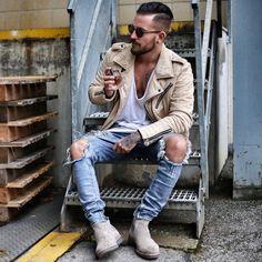 The Best Street Style Inspiration & More Details That Make the Difference Mens Fashion 2018, Dope Fashion, Fashion Moda, Hipster Fashion, Cool Street Fashion, Urban Fashion, Fashion Ideas, Fernando Lopez, Hipster Outfits