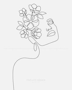 ART: ''Dreamy Girl Bloom'' by Explicit Design One Fine Line Woman Face Art, Black and White Artwork, Minimalist Female Contour Drawing Poster, Beauty Illustration art. drawing Dreamy Girl Bloom Art Print by Explicit Design Art Prints, Illustration Art Girl, Illustration Artwork, Drawings, Contour Drawing, Abstract Line Art, Outline Art, Face Illustration, Minimalist Art