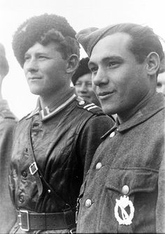 "TRAITORS OF THE RUSSIAN LAND.Russian Cossacks crossed in the service of Nazi Germany and the Führer. A group of Cossacks, voluntarily referred by the service and the Führer of Germany. The USSR. 1942""... In Crimea to the Red Army were 90 thousand. persons, including 20th. the Crimean Tatars. almost all of the 20th. Crimean Tatars deserted in 1941 year from 51 army retreat from Crimea. "" Joseph Stalin."