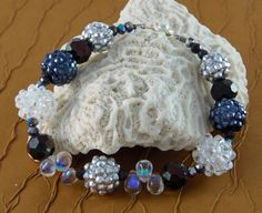 A fabulous bracelet for formal affairs or to rock with your favorite pair of jeans. Buy it on Etsy at etsy.com/shop/designsbyjunebug