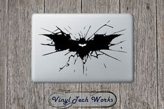 Batman Decal Bat Sticker For Apple Macbook Laptop Logo Symbol Joker Dark Knight Window Car Wall Vinyl Sticker Macbook Laptop, Macbook Decal, Laptop Decal, Joker Dark Knight, Decals, Etsy, Stickers, Vintage, Wall Vinyl
