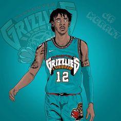 Nba Grizzlies, Grizzlies Basketball, Memphis Grizzlies, Basketball Videos, Basketball Posters, Basketball Art, Lebron James Wallpapers, Nba Wallpapers, Nba Sports