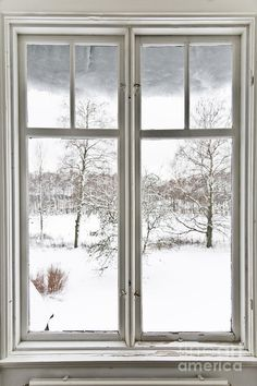 Window And View Over Winter Landscape Photograph  - Window And View Over Winter Landscape Fine Art Print