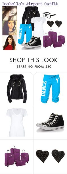 """""""Isabella at the airport"""" by jonas-lovato-gomez-1d ❤ liked on Polyvore featuring American Eagle Outfitters, Splendid, Converse, Diane Von Furstenberg, black, Blue, glasses, kendalljenner and airportstyle"""