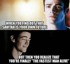 The news about Barry being Savitar made me very sad but this allows me to laugh about it a bit