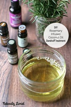 DIY Rosemary Infused Coconut Oil Dandruff Treatment