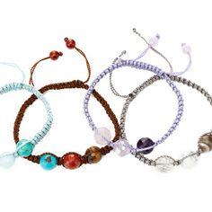 Exclusive   Soul Journey Triple Semi-Precious Stone Bracelet by Soul Journey Jewelry on Opensky