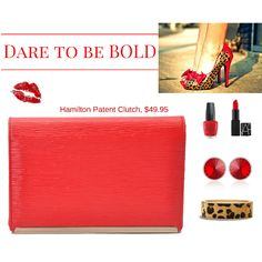 Dare to be bold with the Hamilton Patent Clutch in vibrant red. #style #fashion