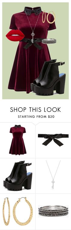 """Outfit Of The Day// Party"" by vanmar02 ❤ liked on Polyvore featuring Miss Selfridge, Alice + Olivia, Fragments, Chico's and Lime Crime"