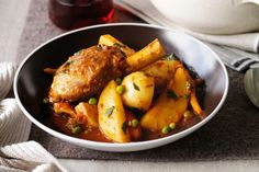 Navarin is a French lamb ragout (or stew). The lamb is cooked low and slow until it melts in the mouth.