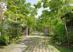 施工例1=住まいの顔――玄関アプローチ 高田造園設計事務所