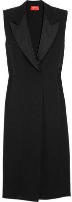 Lanvin Tuxedo-style silk-georgette dress