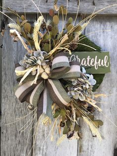 Excited to share this item from my #etsy shop: Grateful Hydrangea Fall wreath for door, Autumn Pumpkin Floral Grapevine Wreath for Door, Friends wreath for front door, pumpkin wreath,