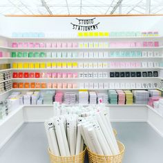 Studio Stationery wholesale shop / tica / colorful / cash and carry Stationary Shop, Stationary Design, Stationery Store, Party Supply Store, Party Stores, Balloon Shop, Store Interiors, Retail Interior, Store Displays