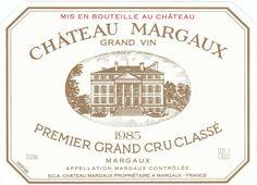 Château Margaux, Premier Grand Cru Classé à Margaux, Médoc, classement de 1855. Grand Vin Rouge de Bordeaux