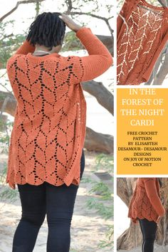 In the Forest of the Night Cardi - FREE Crochet Pattern Crochet cardigan pattern for women. Spring c Moda Crochet, Crochet Baby, Free Crochet, Knit Crochet, Knitting Patterns, Crochet Patterns, Crochet Cardigan Pattern Free Women, Vogue Patterns, Sewing Patterns