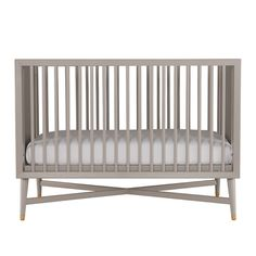 DwellStudio Mid-Century Convertible Crib in French Grey / Cost: $599