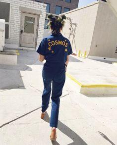 """Walk this way...★ Introducing our """"Stardust Coveralls,"""" super soft zip front jumpsuit patterned after an old mechanics onesie."""