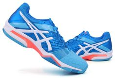more photos d4bbb 519ec ASICS GEL BLAST 7 Women s Badminton Shoes Sports Indoor Blue GEL NWT  E658Y-4301