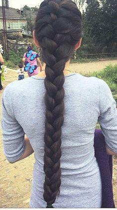 Black Hairstyles Sew In, Braided Bun Hairstyles, Braided Buns, Messy Buns, Updo Hairstyle, Prom Hairstyles, Indian Braids, Long Black Hair, Thick Long Hair