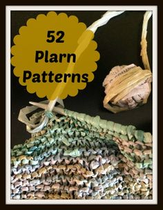 FREE Plarn Patterns--knitting/crocheting with plastic grocery bags! Plastic Bag Crafts, Plastic Bag Crochet, Recycled Plastic Bags, Recycled Crafts, Yarn Crafts, Knitting Stitches, Knitting Patterns Free, Knitting Yarn, Free Knitting