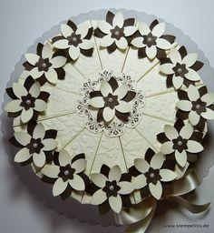 Stempelitis: Neue Torte, Papiertorte Vanille Espresso, Geburtstagstorte, Hochzeitstorte, stempelitis-shop.de