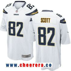 375b94dca Men's Los Angeles Chargers #82 Artavis Scott White Road Stitched NFL Nike  Elite Jersey