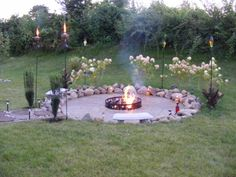 Backyard Landscaping Ideas With Fire Pit garden design with firepit on pinterest fire pits landscaping ideas and backyards with purple heart Yard Landscape Idea Beginner Backyard Fire Pit Small Backyard Turned Into Lovely Relaxing Area