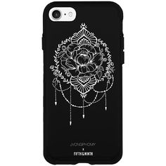 Fifth & Ninth Joanna Vongphuomy X Fifth and Ninth Hard Shell Phone... ($25) ❤ liked on Polyvore featuring accessories, tech accessories and black