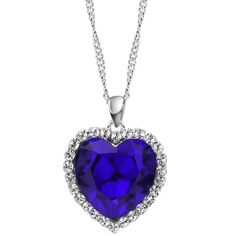 "Neoglory Charm Ocean Titanic Heart Blue Pendants Necklace Clean Crystal Rhinestone Jewelry 18"" Neoglory Jewelry http://www.amazon.com/dp/B00BMG0CAE/ref=cm_sw_r_pi_dp_ImFpub0KRK0VQ"