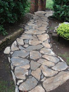 Landscaping Stone Patio : Best Stone Walkway Ideas U2013 Home Remodel Ideas