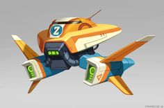 Matias Hannecke - spaceship concepts from this week Spaceship Design, Spaceship Concept, Robot Concept Art, Concept Ships, Game Concept, Robot Art, Prop Design, Game Design, Lego Design