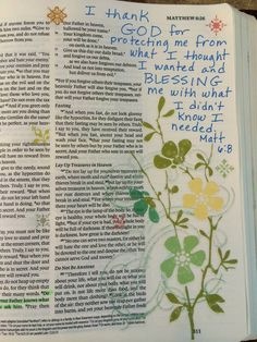 Matt 6:8 I used rub-on transfers to embellish this page.